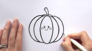 how to draw a cartoon pumpkin youtube