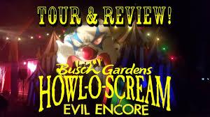 howl o scream vs halloween horror nights howl o scream busch gardens tampa bay 2016 complete park vip tour