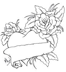 roses and hearts coloring pages wallpaper download