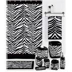 Black and White Zebra Print Shower Curtain: BedBathHome.