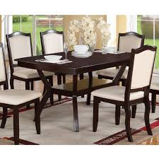 Glass Rectangle Dining Table Amazon Com Modern Rectangular Wood 7 Pc Dining Table And Chairs
