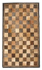 Cow Print Rugs Animal Print 5x8 Cow Skin Leather Cowhide Rug Carpet