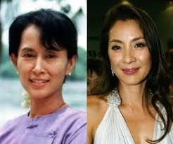 Aung San Suu Kyi and Michelle Yeoh