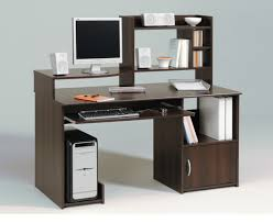 Wooden Office Tables Designs Enticing Cool Computer Table Design With Dark Brown Wooden