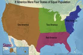 Unite States Map by If Every U S State Had The Same Population What Would The Map Of
