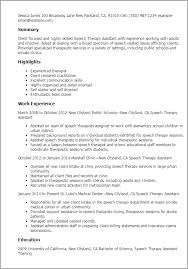 Liaison Resume Sample by Professional Speech Therapy Assistant Templates To Showcase Your
