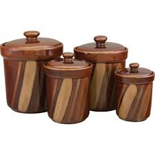 sango avanti canisters set in brown set of 4 4722 316 the home