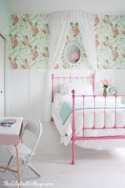 DIY Project Ideas Link Party Features Big Girl Bedrooms - Girls bedroom wallpaper ideas