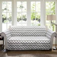 Grey Sofa And Loveseat Set Amazon Com Lush Decor Chevron Slipcover Furniture Protector For