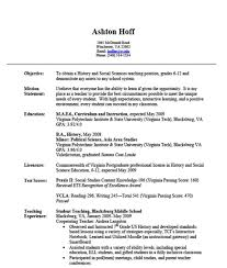 Sample Caregiver Resume No Experience by Sample Teacher Resume No Experience Gallery Creawizard Com