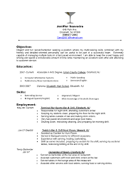 Example Objectives For Resumes by Bartender Objectives Resume Bartender Objectives Resume Will