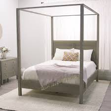 Tall Canopy Bed by Gray Marlon Queen Canopy Bed World Market