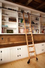 Ikea Bookshelves Built In by Best 25 Bookcase With Ladder Ideas On Pinterest Library Ladder