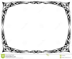 simple black tattoo ornamental decorative frame royalty free stock