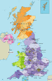 Map Of Ireland And England Large Political Map Of The United Kingdom Of Great Britain And