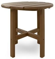 amazon com trex outdoor furniture cape cod round 18 inch side