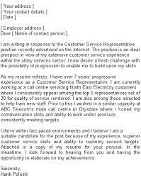 Customer Service Cover Letter   Free Customer Service Cover Letter       customer service