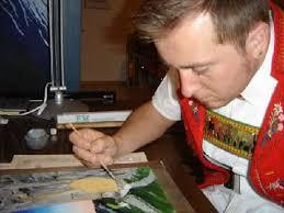 Marc Trachsler in seinem Element. Er malt seit acht Jahren. - 181225-7954_dsc02566_klein