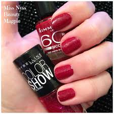 miss nyss beauty magpie notd rimmel 60 seconds nail