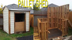 Diy Garden Shed Plans Free by Shed Built With Free Pallets Check Link In Description For More