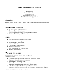 Job Resume With No Experience by Cashier Resume Sample No Experience Resume For Your Job Application