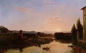 Thomas Cole     s Sunset at the Arno