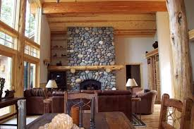Lodge Living Room Decor by House Design Tahoe Mountain Lodge Style Traditional Living