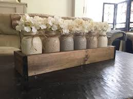 Wood Decor by Mason Jar Centerpiece Mason Jar Planter Box Farmhouse Decor