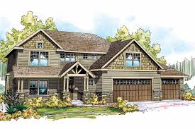 Craftsman Home by Craftsman House Plans Oakridge 30 761 Associated Designs
