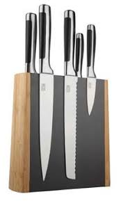 tamahagane san kyoto magnetic knife stand in black snk 116m 79 95