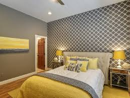 yellow and grey bedroom wall decor coolest artistic king headboard