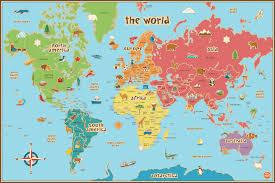 World Map Pinboard by Around The World With Wallpops Dry Erase Maps U2013 Poptalk