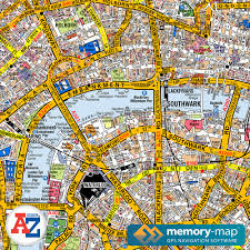 Map Az Memory Map A Z Digital Street Maps Maps For Your Pc Gps And