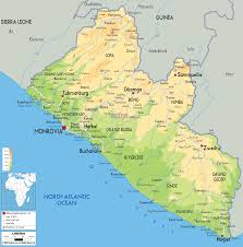 Sub Saharan Africa Physical Map by Map Of Liberia Travel