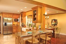 decorating room with vaulted ceiling recent open kitchen design