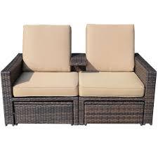 3pc rattan wicker chaise lounge chair patio furniture set pool w
