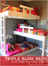 Plans For Bunk Bed With Steps by The 25 Best Triple Bunk Beds Ideas On Pinterest Triple Bunk 3