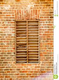 Wood Slat by Old Wood Slat Window In Brick Wall Stock Photography Image 30577432