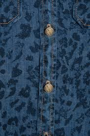 Blue Leopard Print by Current Elliott Leopard Print Denim Shirt In Blue Lyst