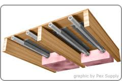 heated floors under laminate installing radiant floor heating radiant flooring installation