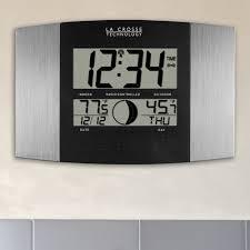 crosse technology digital atomic wall clock