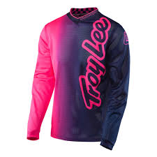 troy lee designs motocross helmet troy lee designs 2017 gp air 50 50 flo pink navy kids jersey