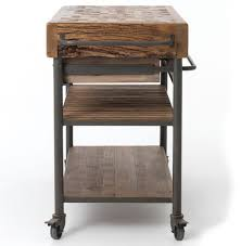 Reclaimed Kitchen Islands Kershaw Rustic Chunky Reclaimed Wood Iron Double Drawer Kitchen