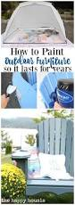 Outdoor Furniture Finish by How To Paint Outdoor Furniture So It Lasts For Years The Happy