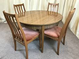 Retro Dining Room Set Retro Dining Table U0026 Chairs Extendable Table 1960 U0027s Teak Formica