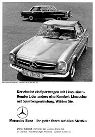 mercedes benz sl in advertising product ranges as icons of their