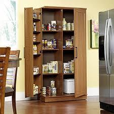 Kitchen Pantry Furniture Sauder Home Plus Sienna Oak Storage Cabinet 411965 The Home Depot