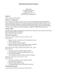 Medical Resume Samples  medical director resume  certified medical     medical office receptionist job description medical receptionist       medical resume samples