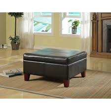 Large Storage Ottoman Coffee Table by Captivating Black Leather Storage Ottoman Dorel Living Black Faux