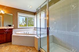shower bath images stock pictures royalty free shower bath shower bath bathroom interior with corner bath tub and screened shower tile floor and
